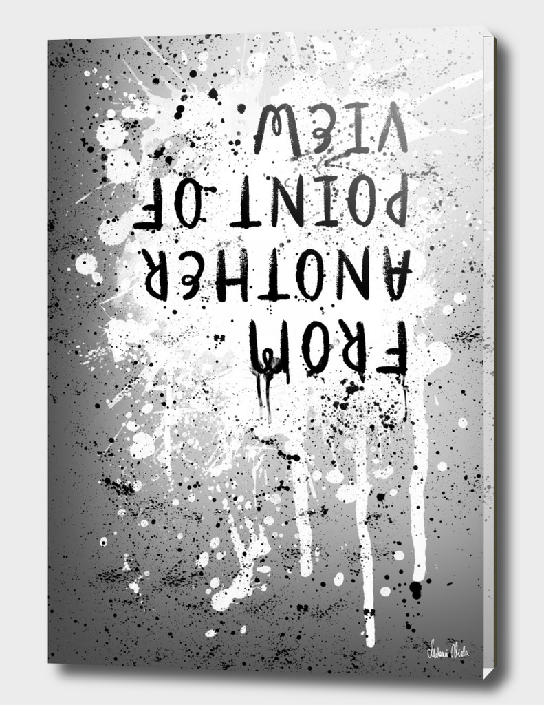 TEXT ART From another point of view | splashes