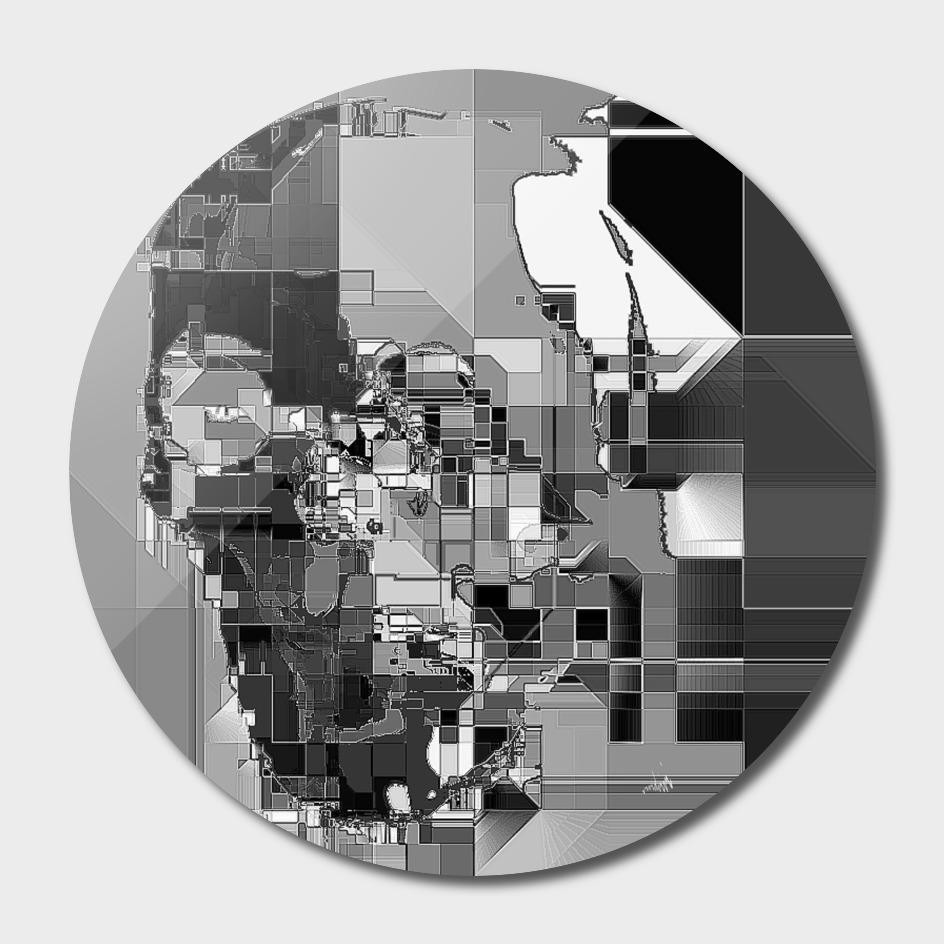 metallic skull on code