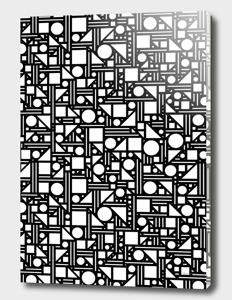 Geometric maze (black and white) 2