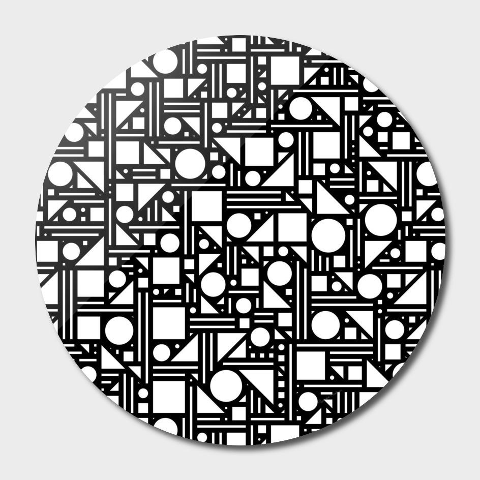 Geometric maze (black and white) 2