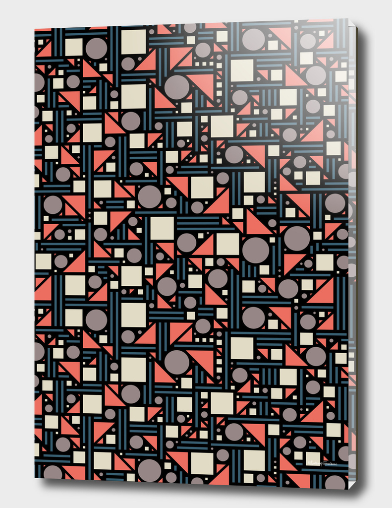 Geometric maze (color)