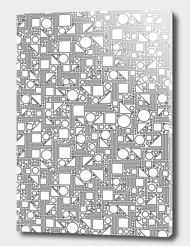 Geometric Maze (black and white) 1