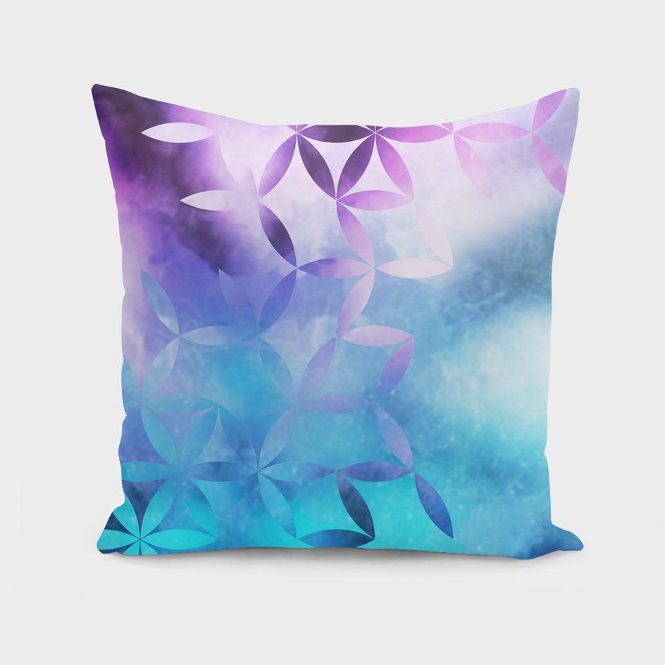 geometric flowers i blue