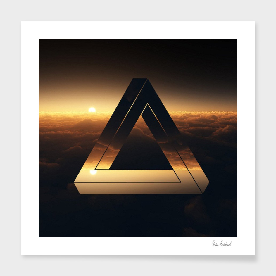 Triangle penrose clouds sunset