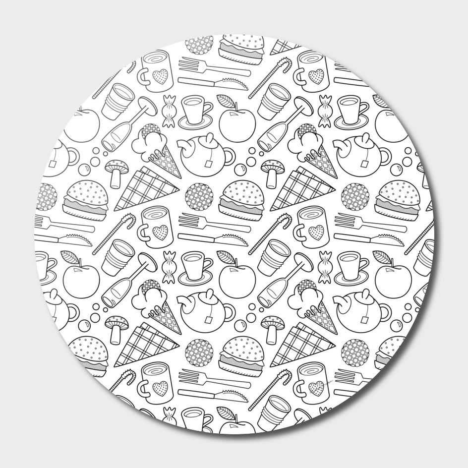 Foodie (black and white) 1