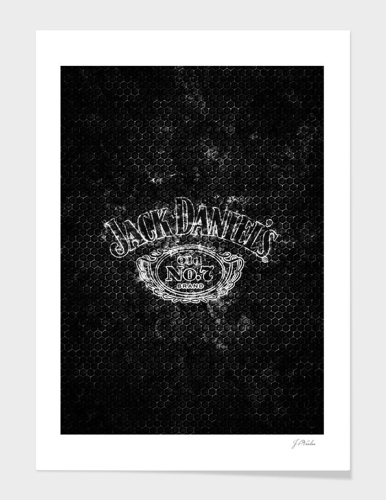 Jack Daniel's splatter painting