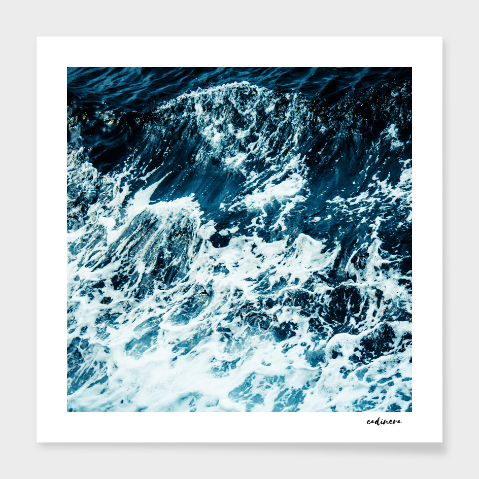 Disobedience - ocean waves painting texture