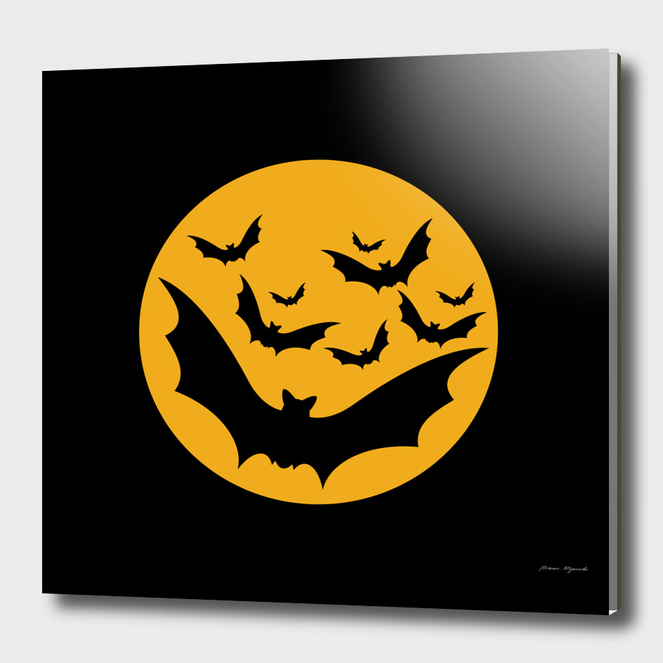 Bats moon night halloween black