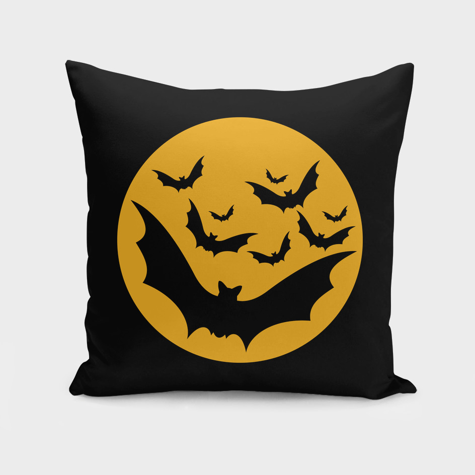 Bats moon night halloween black