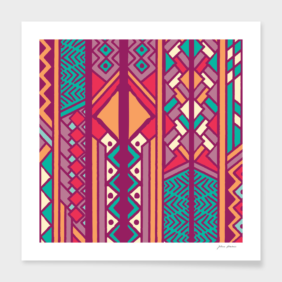 Tribal ethnic geometric pattern 001
