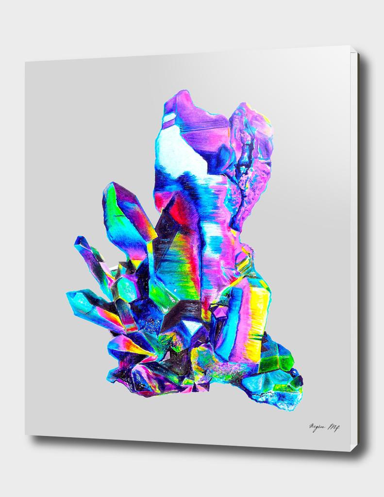 Rainbow Aura Quartz Crystal