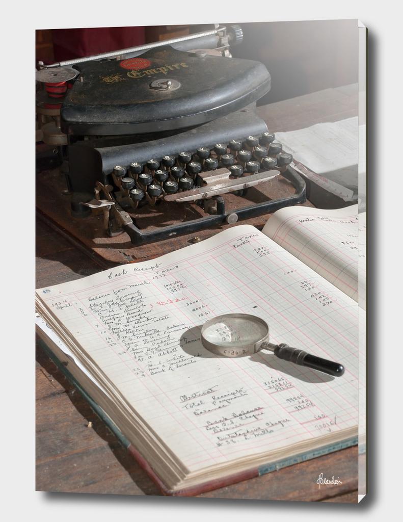 130710H Desk scene, detail 1