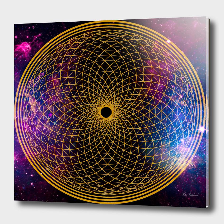 crown chakra universe life flower