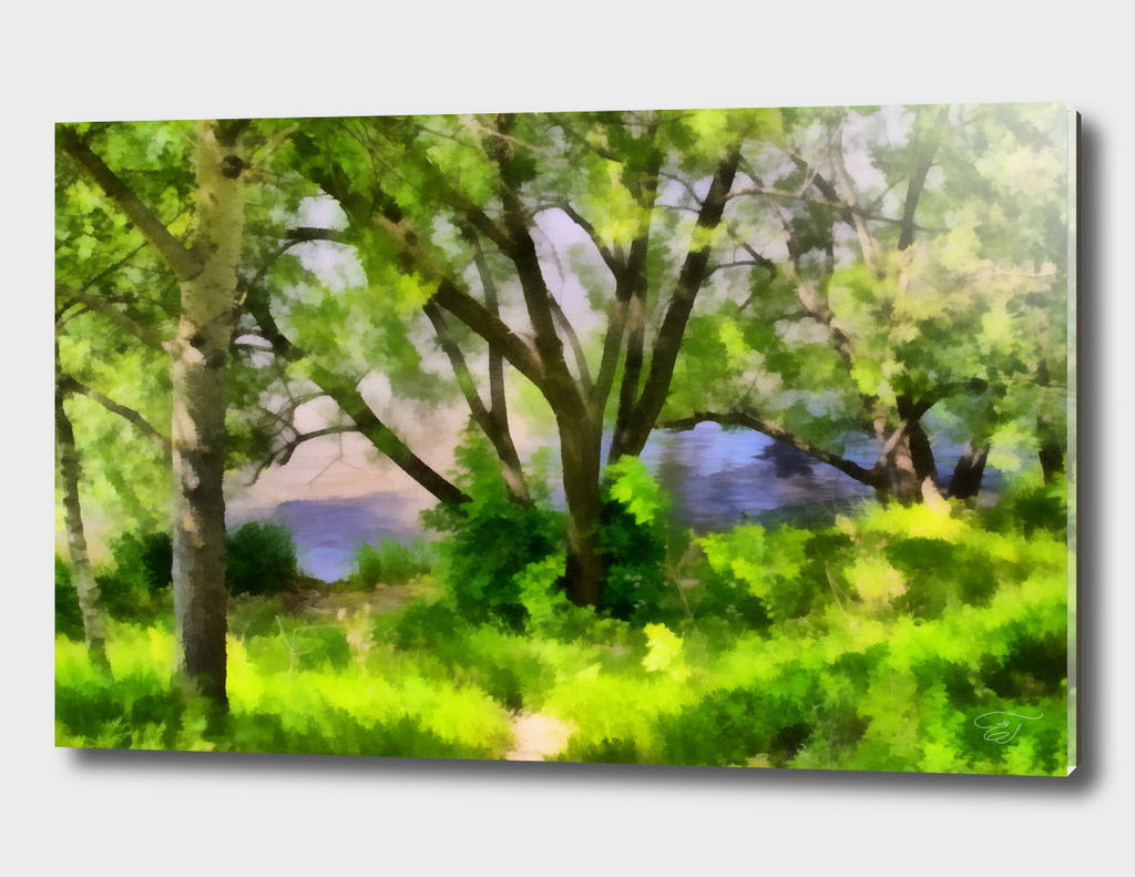 Riverside. Realism style painting
