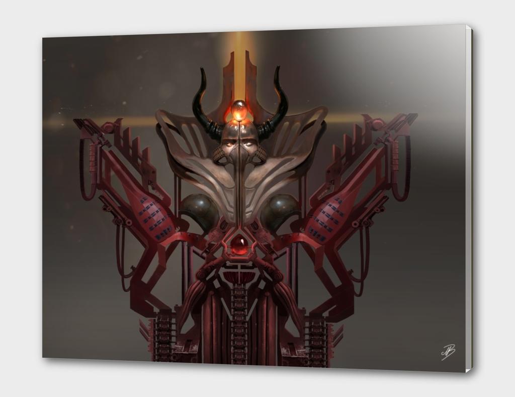 Fantasy Red Mech