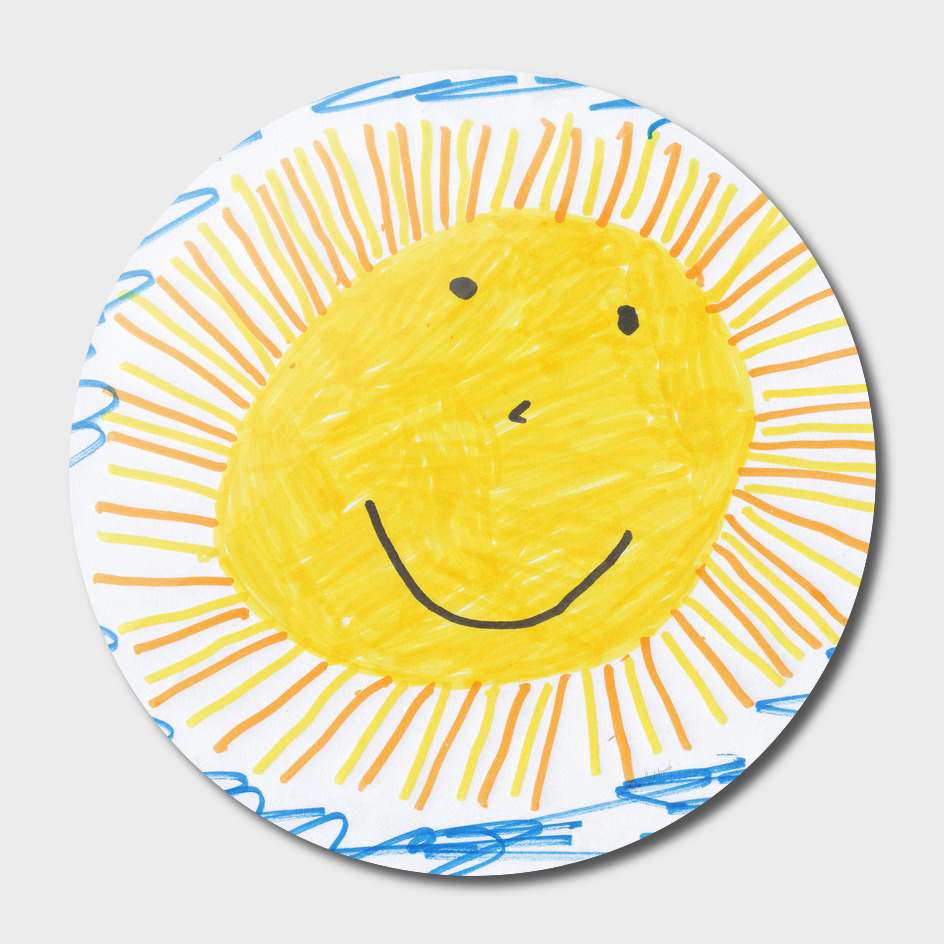 sun children drawing image drawing