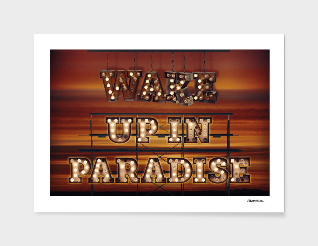 Wake up in Paradise - Sun -  Wall-Art for Hotel-Rooms