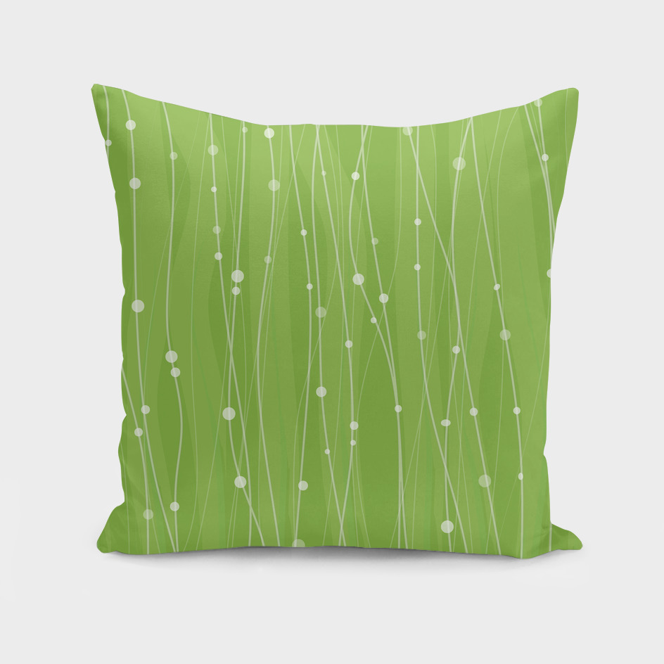 Green Pattern With Lines And Dots