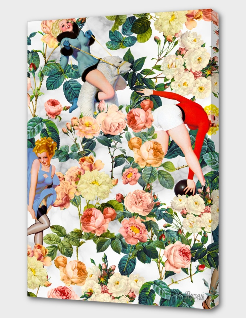 Floral and Pin Up Girls II Pattern