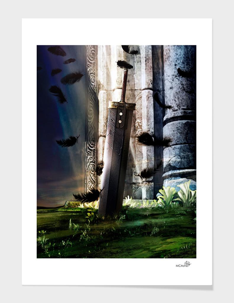 A Hero's sword - Final Fantasy VII Artwork