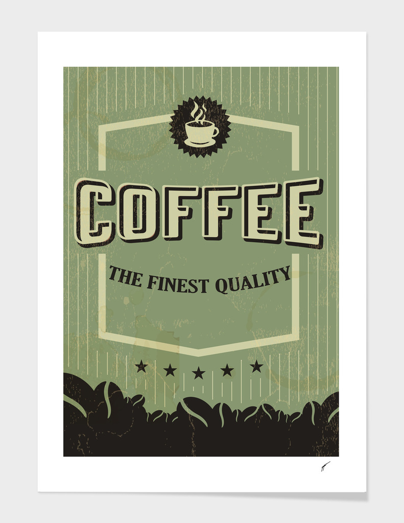 Coffee Poster 6 - Retro Green