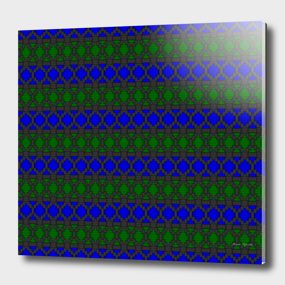 Diamond Alt Blue Green woven fabric