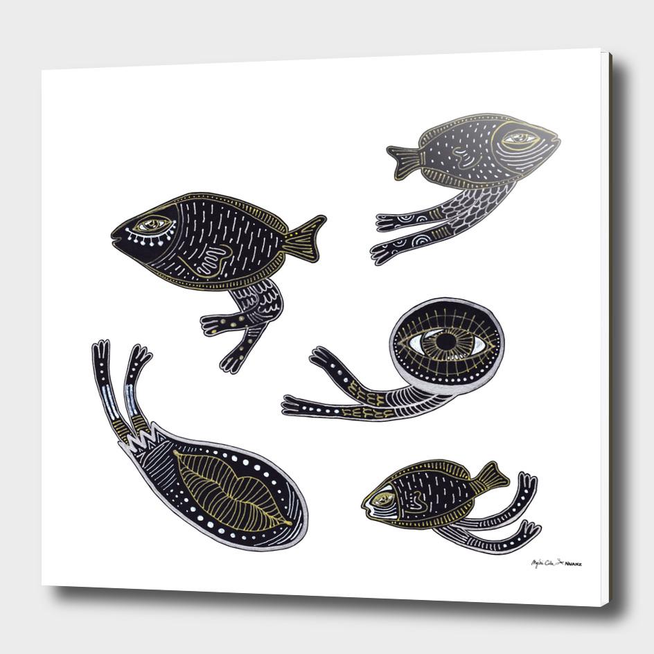 underwater surreal creatures