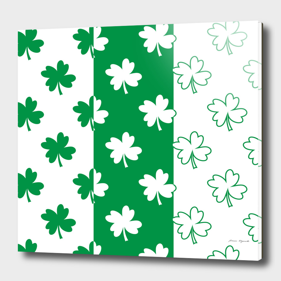 flower green shamrock white