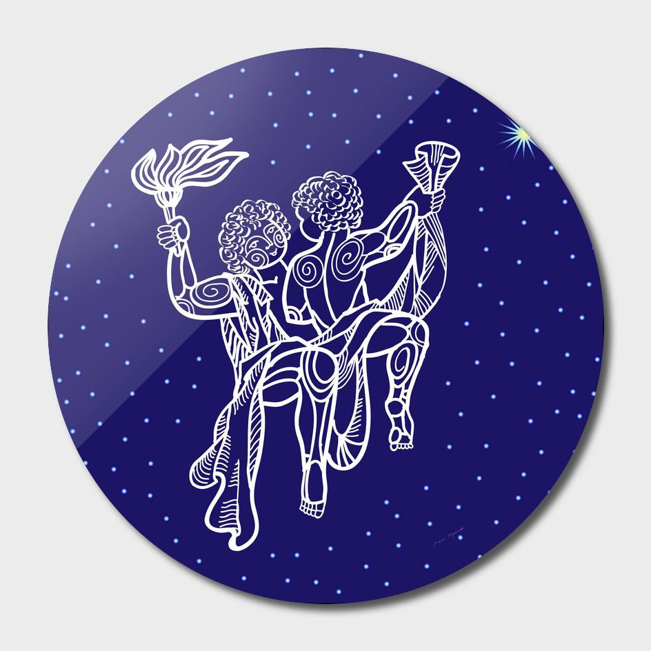 Gemini zodiac star