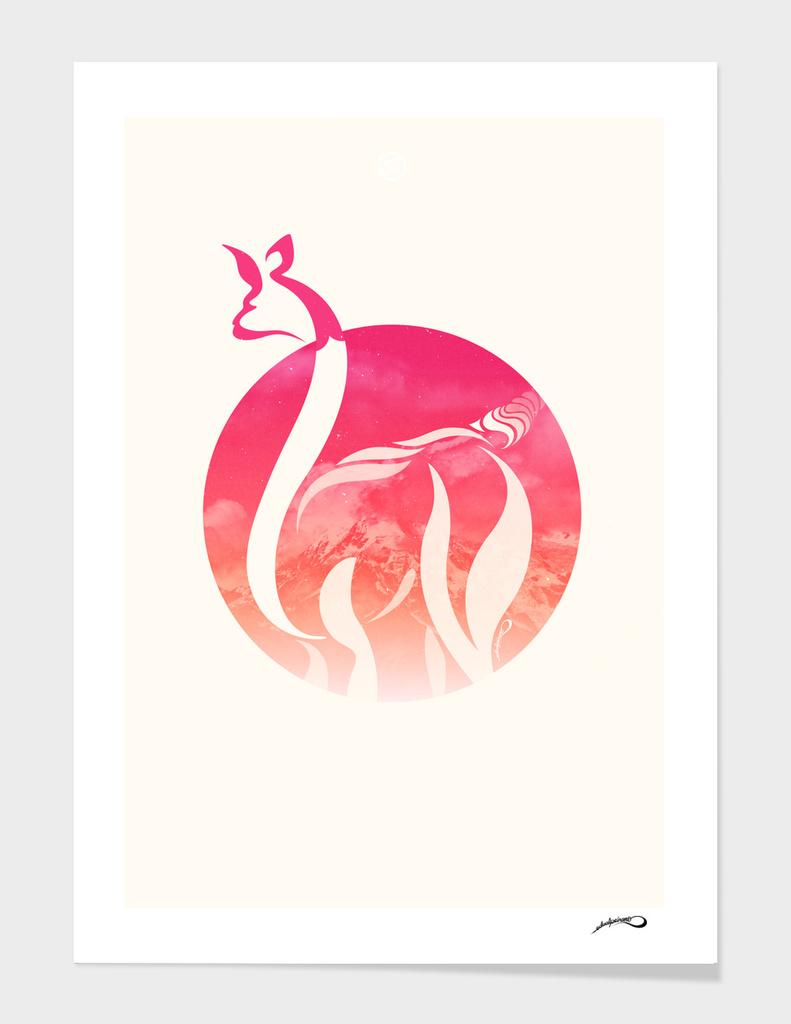Pink Fire Alpaca by #Bizzartino
