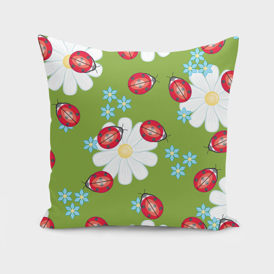 insect flower floral animals star green red sunflower