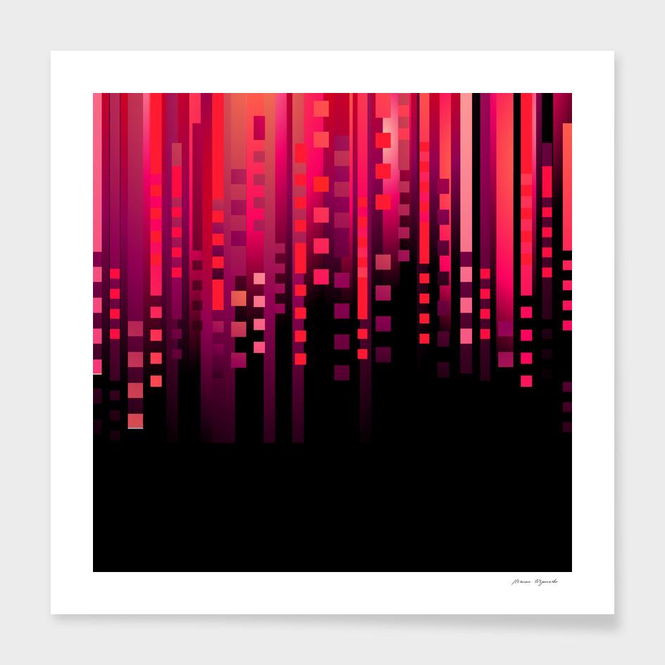 line vertical plaid light black red purple pink sexy