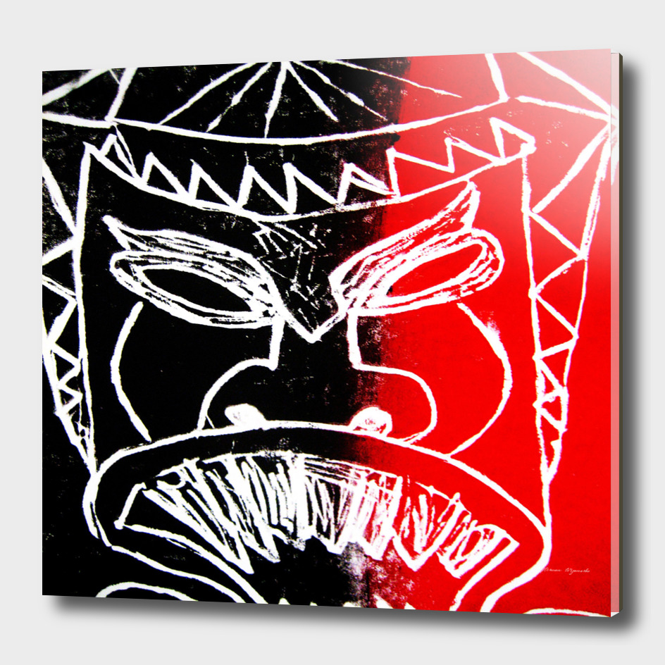 mask face Red Black