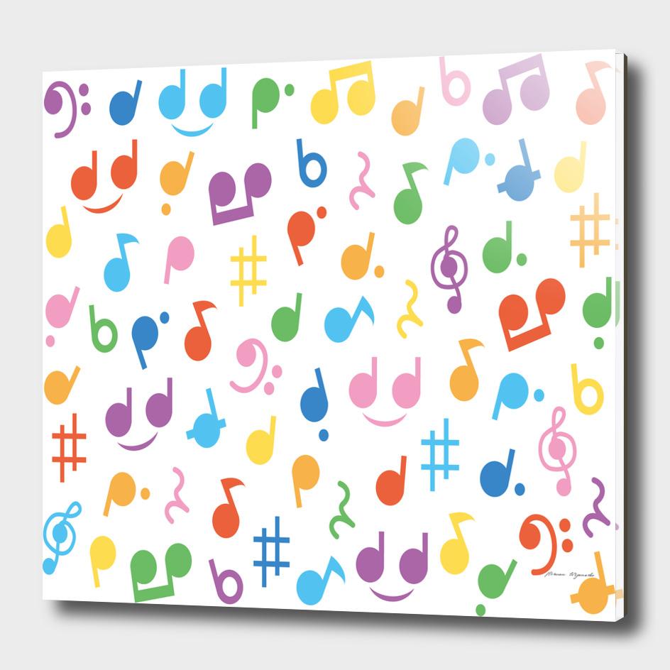notes tone music purple orange yellow pink blue