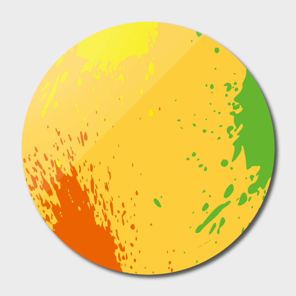 paint stains spot yellow orange green