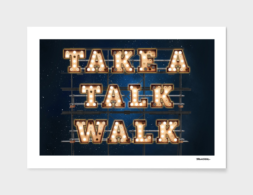 Take a Talk Walk  -  Wall-Art for Hotel-Rooms