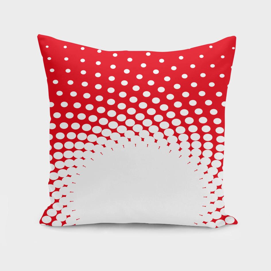 polka dot circle hole red white