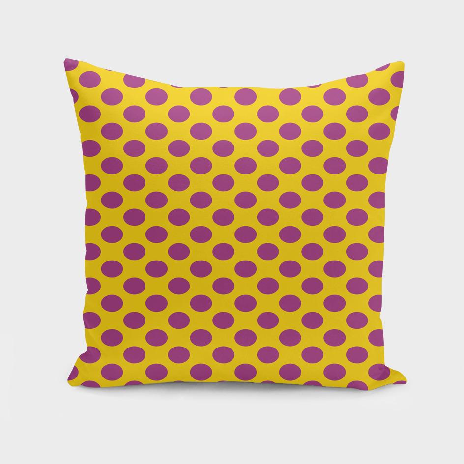 polka dot purple yellow orange