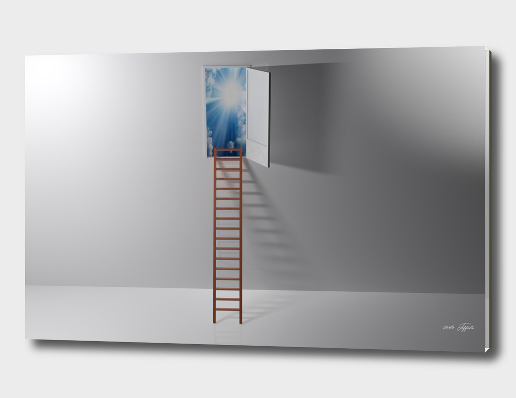 Ladder to the paradise - 3D rendering
