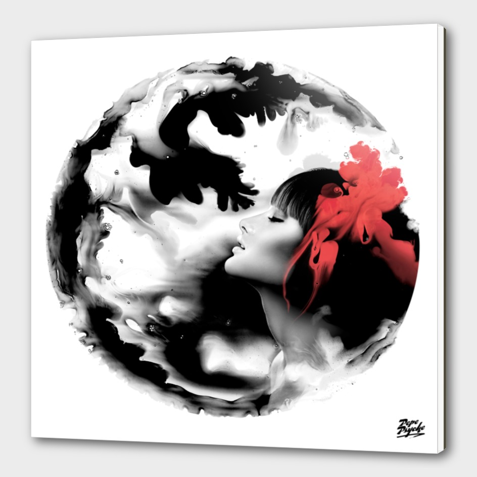 Psychedelic Dreaming Rorschach Black & White Ink Girl