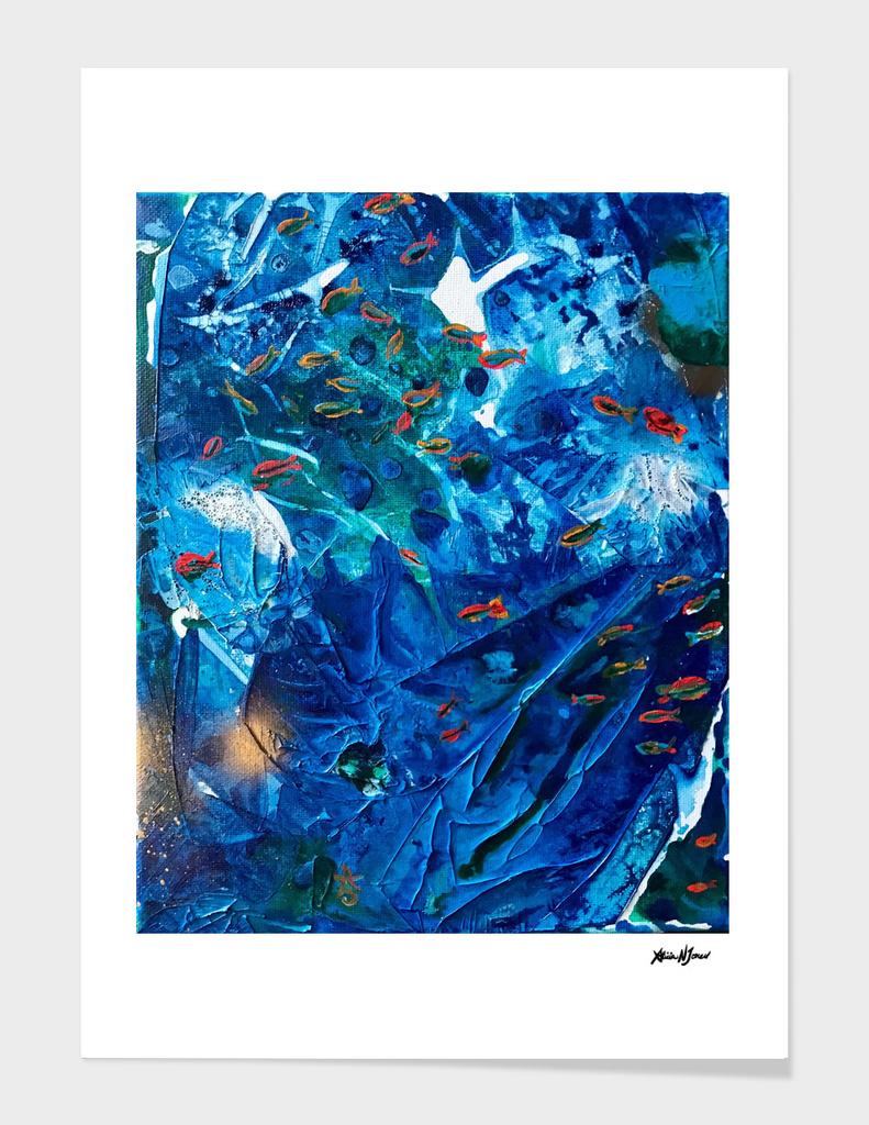 Rainbow Fish Swim, Environmental Tiny World Collection