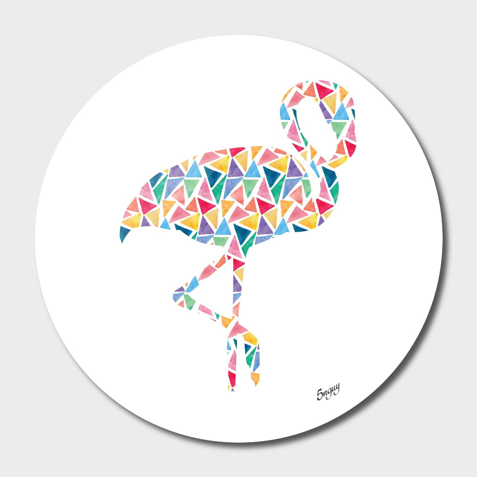 Geometric Abstract Colorful Animal