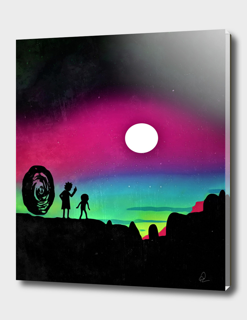 Rick and Morty *Vs the Sun* Vintage Poster