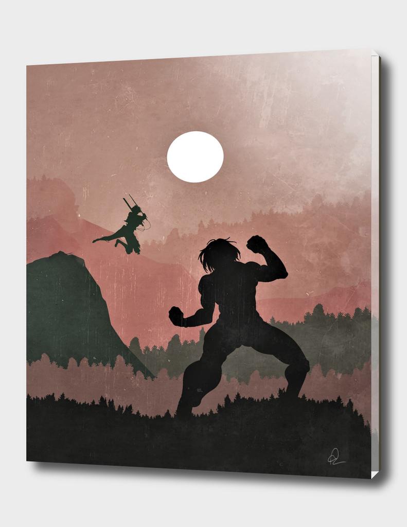Attack on Titan Vintage Poster