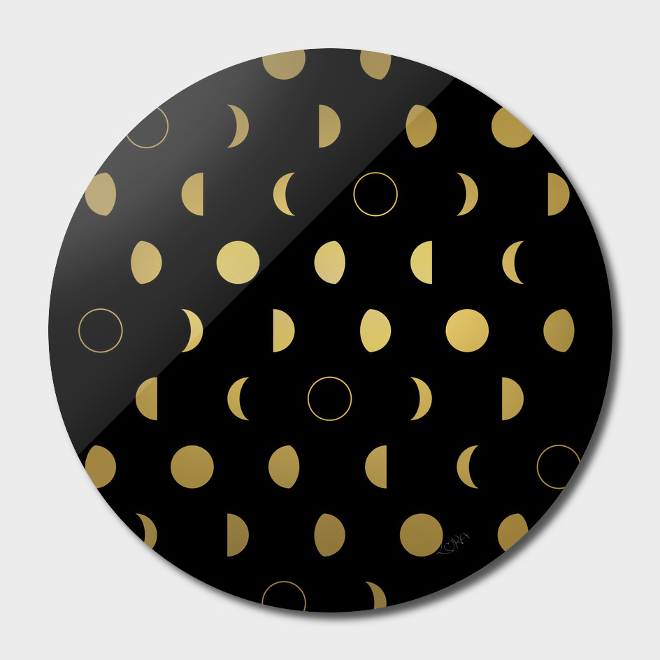 Gold Moon phases pattern