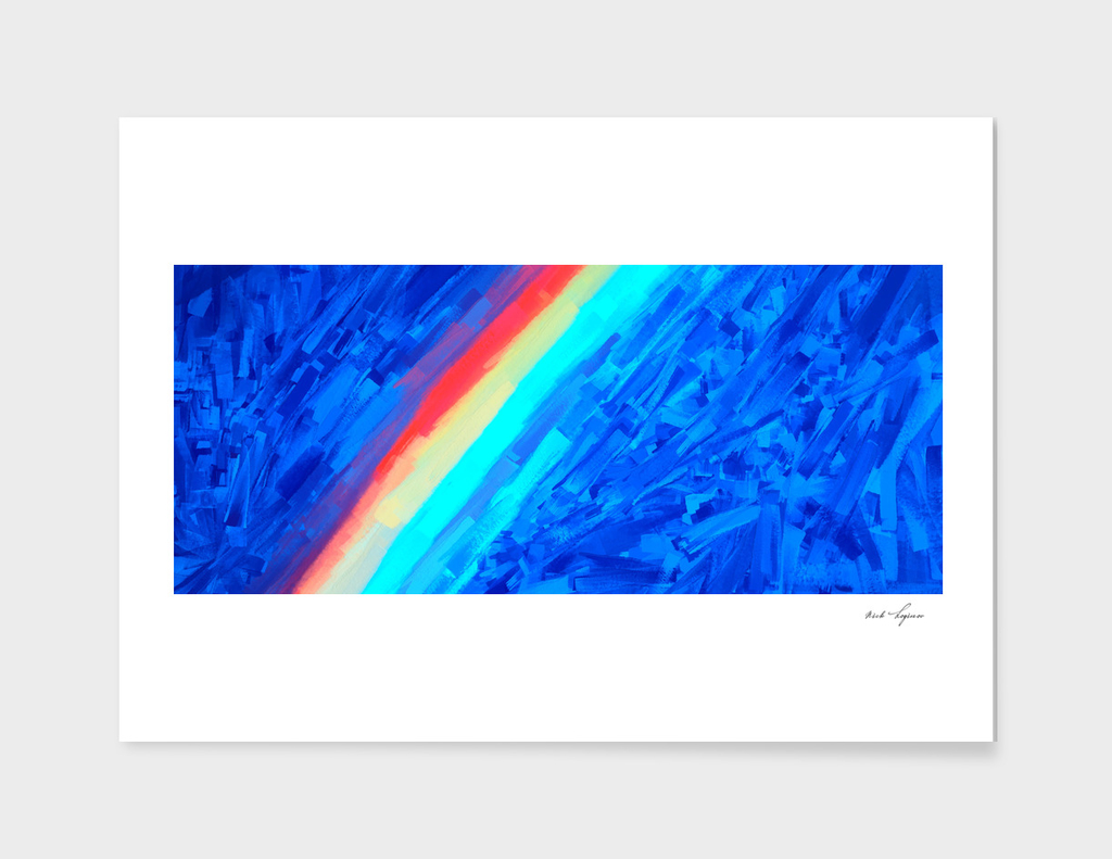 City road rainbow abstract painting
