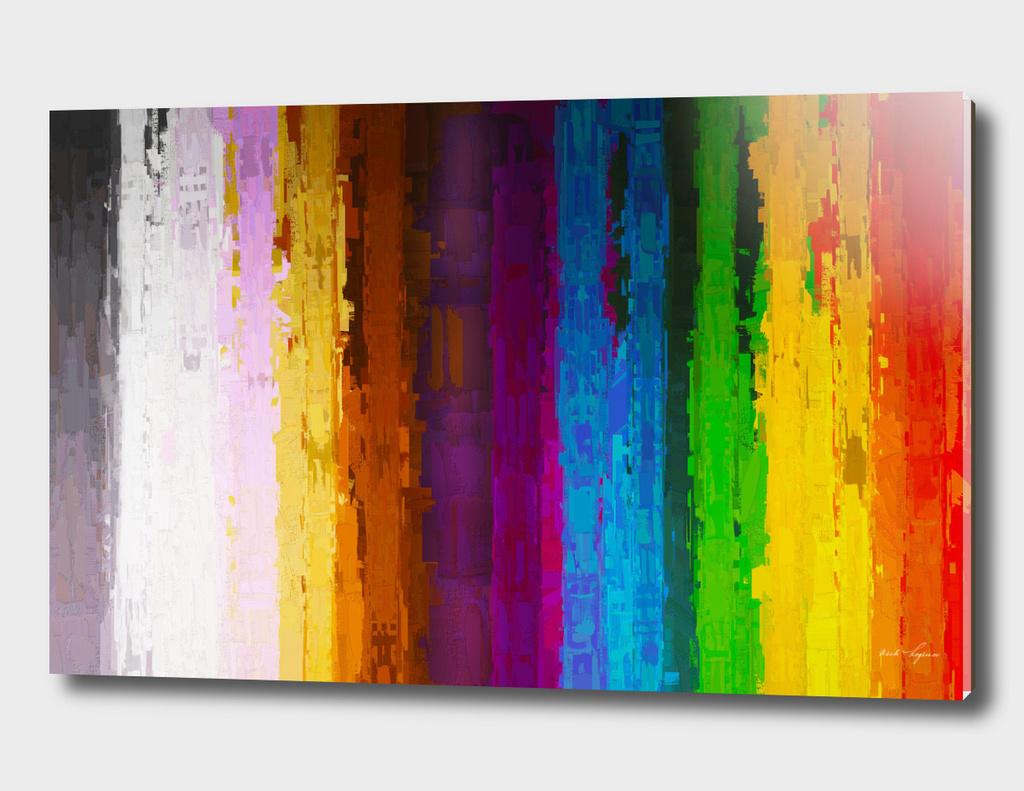 Antique color lines painting