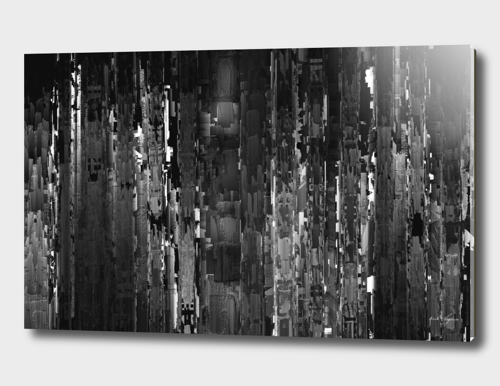 Abstract dark city painting