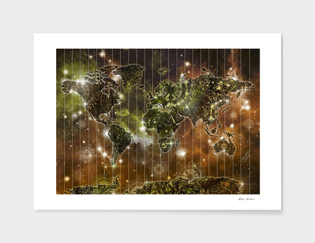 world map mandala space 3