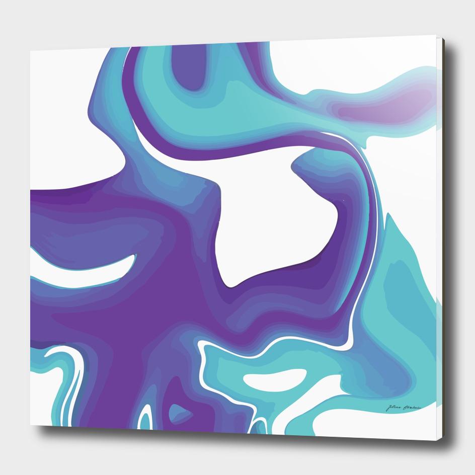 Liquid Marble Purple Shades 010